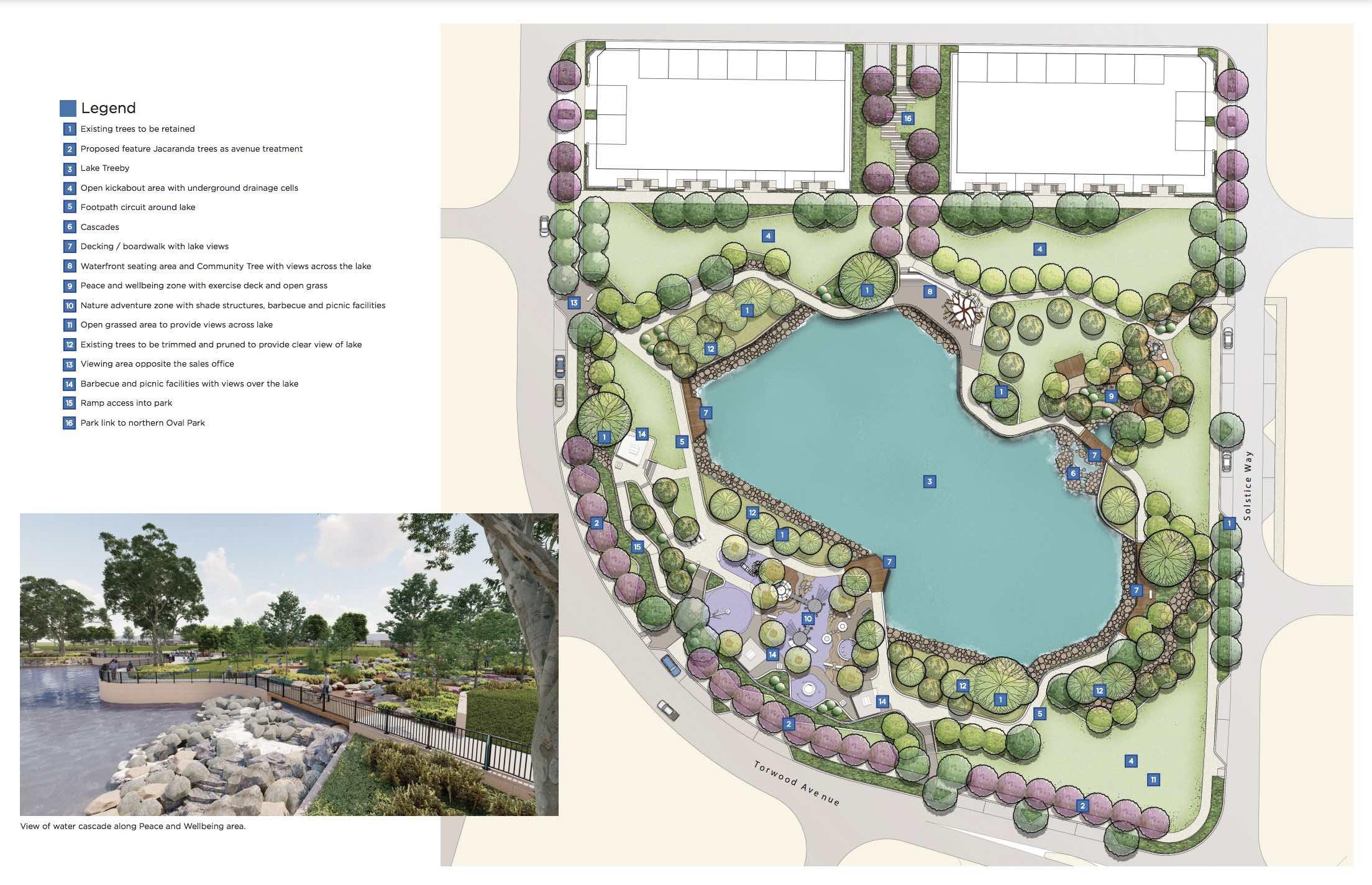 Lake Treeby estate lake plans