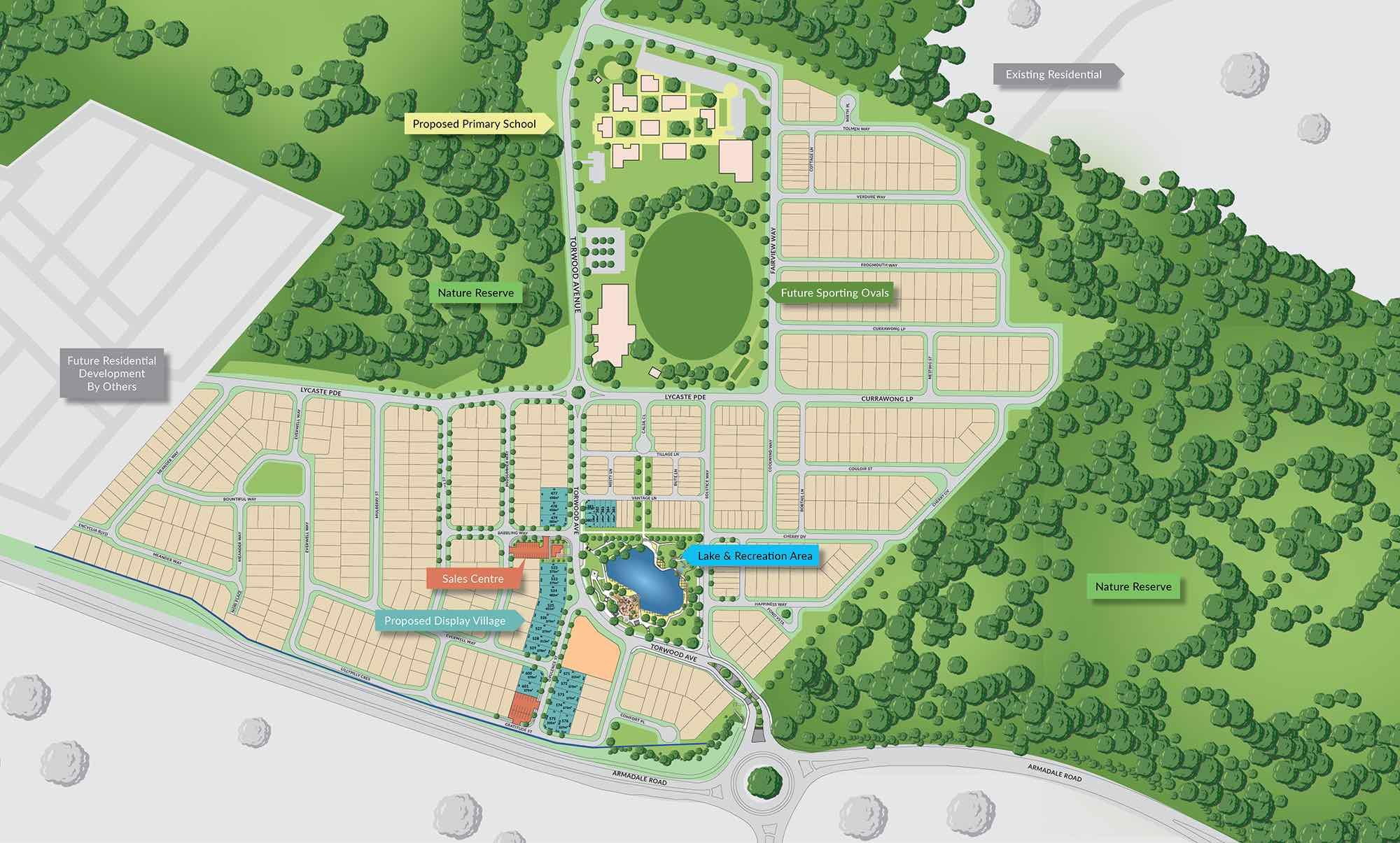 Lake-Treeby-Master-Estate-Plan-land-for-sale